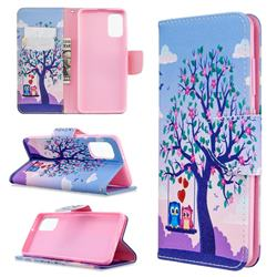 Tree and Owls Leather Wallet Case for Samsung Galaxy A41