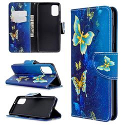 Golden Butterflies Leather Wallet Case for Samsung Galaxy A41