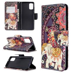 Totem Flower Elephant Leather Wallet Case for Samsung Galaxy A41
