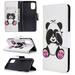 Lovely Panda Leather Wallet Case for Samsung Galaxy A41