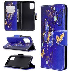 Purple Butterfly Leather Wallet Case for Samsung Galaxy A41