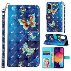 Rankine Butterfly 3D Leather Phone Holster Wallet Case for Samsung Galaxy A41