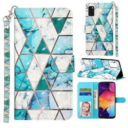 Stitching Marble 3D Leather Phone Holster Wallet Case for Samsung Galaxy A41