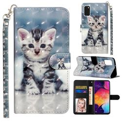 Kitten Cat 3D Leather Phone Holster Wallet Case for Samsung Galaxy A41