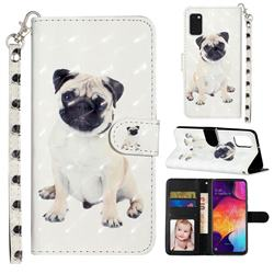 Pug Dog 3D Leather Phone Holster Wallet Case for Samsung Galaxy A41