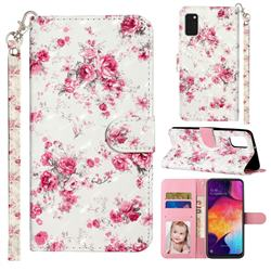 Rambler Rose Flower 3D Leather Phone Holster Wallet Case for Samsung Galaxy A41