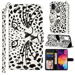 Leopard Panther 3D Leather Phone Holster Wallet Case for Samsung Galaxy A41