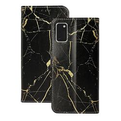 Black Gold Marble PU Leather Wallet Case for Samsung Galaxy A41