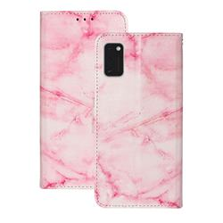 Pink Marble PU Leather Wallet Case for Samsung Galaxy A41