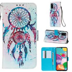 ColorDrops Wind Chimes 3D Painted Leather Wallet Case for Samsung Galaxy A41
