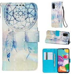 Fantasy Campanula 3D Painted Leather Wallet Case for Samsung Galaxy A41