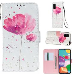 Watercolor 3D Painted Leather Wallet Case for Samsung Galaxy A41