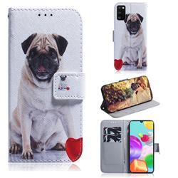 Pug Dog PU Leather Wallet Case for Samsung Galaxy A41