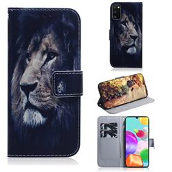 Lion Face PU Leather Wallet Case for Samsung Galaxy A41