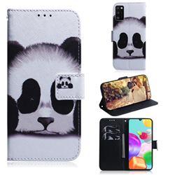 Sleeping Panda PU Leather Wallet Case for Samsung Galaxy A41