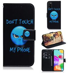 Not Touch My Phone PU Leather Wallet Case for Samsung Galaxy A41