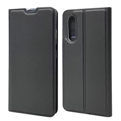 Ultra Slim Card Magnetic Automatic Suction Leather Wallet Case for Samsung Galaxy A41 Japan SC-41A SCV48 - Star Grey