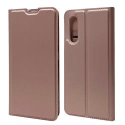 Ultra Slim Card Magnetic Automatic Suction Leather Wallet Case for Samsung Galaxy A41 Japan SC-41A SCV48 - Rose Gold