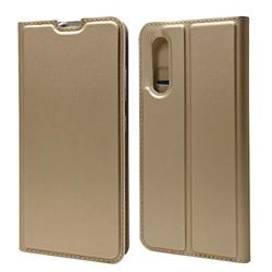 Ultra Slim Card Magnetic Automatic Suction Leather Wallet Case for Samsung Galaxy A41 Japan SC-41A SCV48 - Champagne