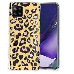 Leopard Galvanized Rose Gold Marble Phone Back Cover for Samsung Galaxy A42 5G