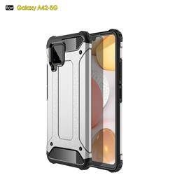 King Kong Armor Premium Shockproof Dual Layer Rugged Hard Cover for Samsung Galaxy A42 5G - White
