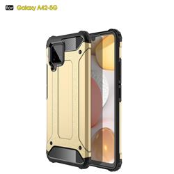 King Kong Armor Premium Shockproof Dual Layer Rugged Hard Cover for Samsung Galaxy A42 5G - Champagne Gold