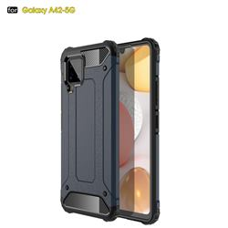 King Kong Armor Premium Shockproof Dual Layer Rugged Hard Cover for Samsung Galaxy A42 5G - Navy