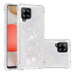 Dynamic Liquid Glitter Sand Quicksand Star TPU Case for Samsung Galaxy A42 5G - Pink