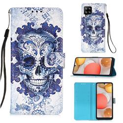 Cloud Kito 3D Painted Leather Wallet Case for Samsung Galaxy A42 5G