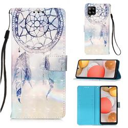Fantasy Campanula 3D Painted Leather Wallet Case for Samsung Galaxy A42 5G