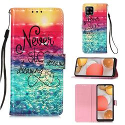 Colorful Dream Catcher 3D Painted Leather Wallet Case for Samsung Galaxy A42 5G
