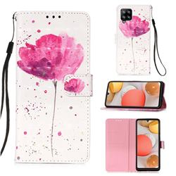 Watercolor 3D Painted Leather Wallet Case for Samsung Galaxy A42 5G