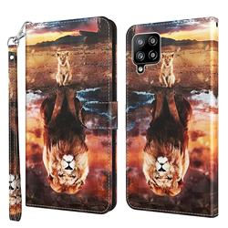 Fantasy Lion 3D Painted Leather Wallet Case for Samsung Galaxy A42 5G