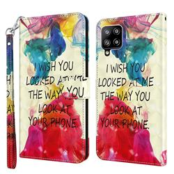 Look at Phone 3D Painted Leather Wallet Case for Samsung Galaxy A42 5G