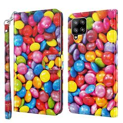 Colorful Jelly Beans 3D Painted Leather Wallet Case for Samsung Galaxy A42 5G