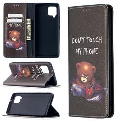 Chainsaw Bear Slim Magnetic Attraction Wallet Flip Cover for Samsung Galaxy A42 5G