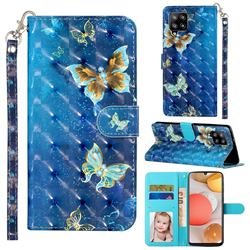 Rankine Butterfly 3D Leather Phone Holster Wallet Case for Samsung Galaxy A42 5G