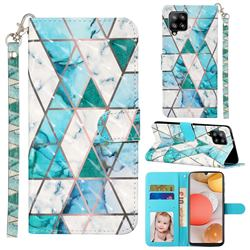 Stitching Marble 3D Leather Phone Holster Wallet Case for Samsung Galaxy A42 5G