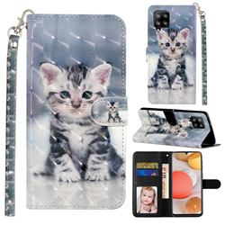 Kitten Cat 3D Leather Phone Holster Wallet Case for Samsung Galaxy A42 5G