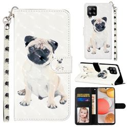 Pug Dog 3D Leather Phone Holster Wallet Case for Samsung Galaxy A42 5G