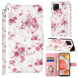 Rambler Rose Flower 3D Leather Phone Holster Wallet Case for Samsung Galaxy A42 5G