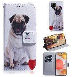 Pug Dog PU Leather Wallet Case for Samsung Galaxy A42 5G