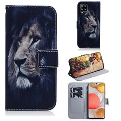 Lion Face PU Leather Wallet Case for Samsung Galaxy A42 5G