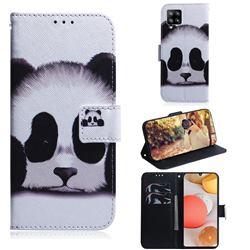Sleeping Panda PU Leather Wallet Case for Samsung Galaxy A42 5G