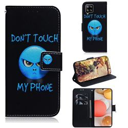 Not Touch My Phone PU Leather Wallet Case for Samsung Galaxy A42 5G