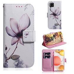 Magnolia Flower PU Leather Wallet Case for Samsung Galaxy A42 5G