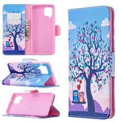 Tree and Owls Leather Wallet Case for Samsung Galaxy A42 5G