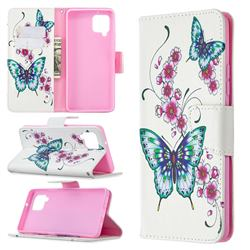 Peach Butterflies Leather Wallet Case for Samsung Galaxy A42 5G