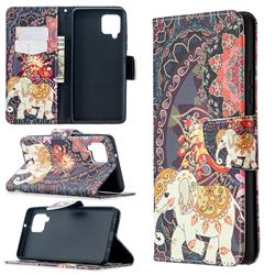 Totem Flower Elephant Leather Wallet Case for Samsung Galaxy A42 5G
