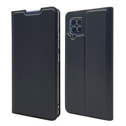 Ultra Slim Card Magnetic Automatic Suction Leather Wallet Case for Samsung Galaxy A42 5G - Star Grey